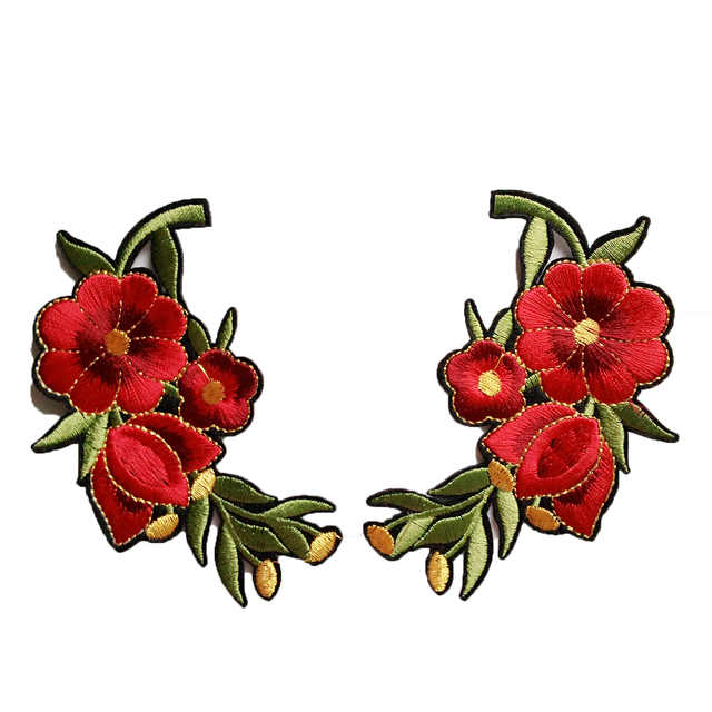 ZHUTOUSAN Newest Collar Flowers Patch Iron On For Clothing Dress Shirt  Decorative Applique Embroidery Floral Sewing