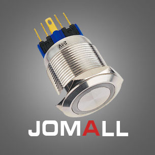 GQ12F/10E/J 12mm Latching LED light Luminous power logo metal push button switch with flat round
