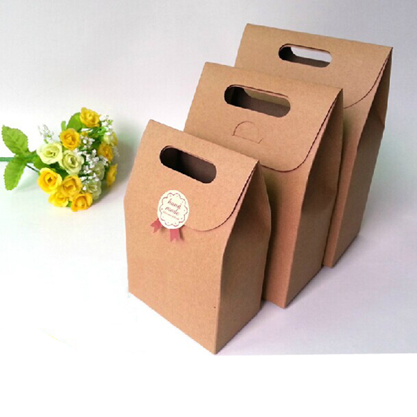 12pcs kraft paper party brown brown bags gift bag handles for Brown paper craft bags