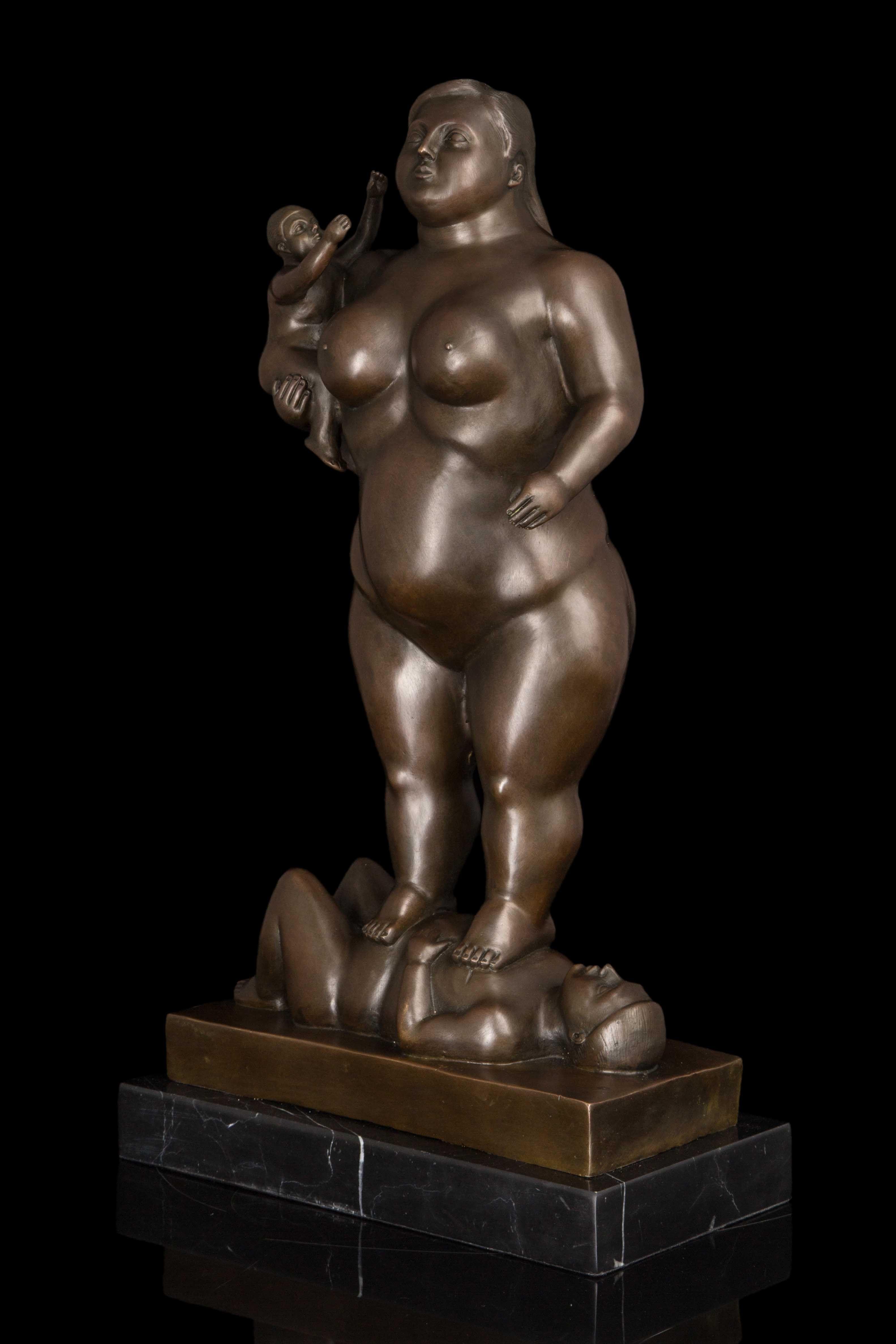 Ele estava Em Casa Mobiliário enfeites de obras de arte de Botero escultura escultura abstrata escultura de bronze DS-289