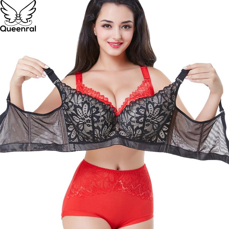 d9793f6ef Queenral Push Up Brassiere Women Bras Underwear Lingerie BH Plus Size DE  Cup Bralette Female Intimates