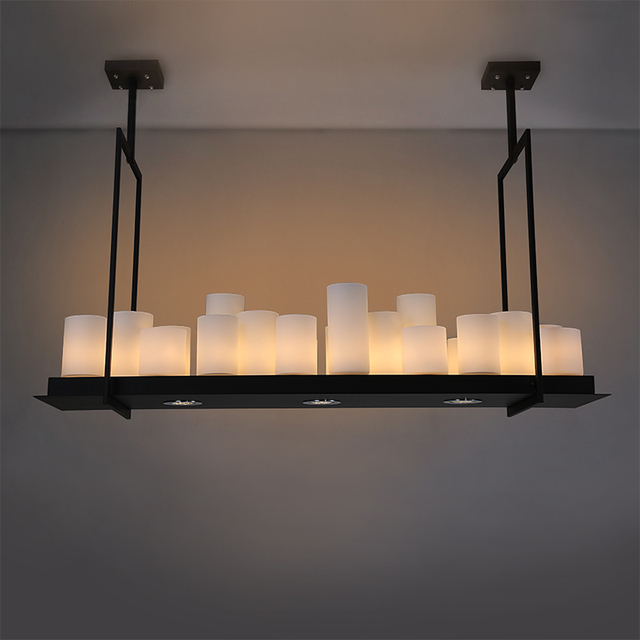 Pendant Lights For Dining Living Room Villa Black Loft Candle Hanging Lamp Free Shipping