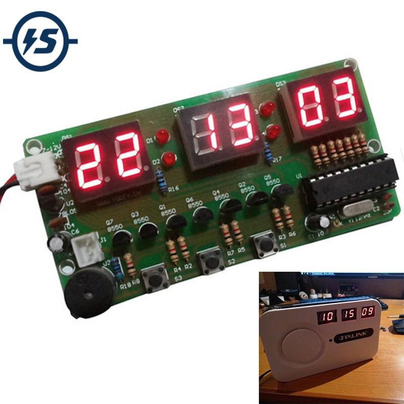 C51 Digital DIY Electronic Clock Kit Suite DIY Kit Six 6 Bits Electronic Parts And Components Eletronicos Electronic DIY Kit