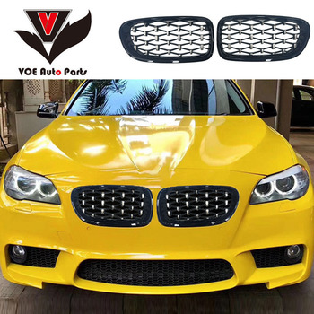 F10 F11 F10 M5 Diamond Style ABS Car Styling Front Racing Grill Grille for BMW 5 Series F10 M5&F10 F11 520i 523i 525i 530i 535i