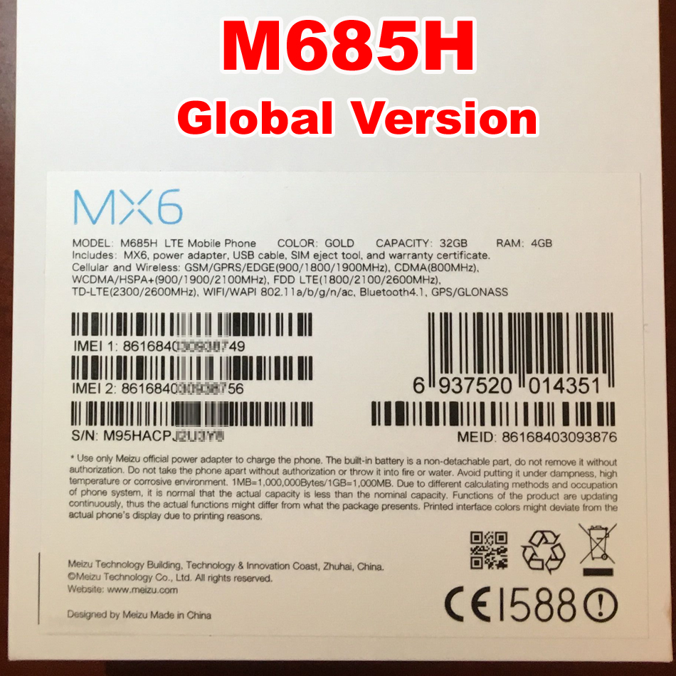 в Meizu как mx6 4 гб оперативной памяти 32 гб ПЗУ глобальный версия двойной SIM 4 г лте смартфон хелио х20 дека процессоров 2.3 ггц 5.5 дюймов 1920 * 1080pix