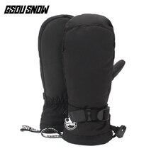 Gsou Snow winter gloves mittens men guantes fingerless snowboard mountain skiing warm ski luvas gants homme