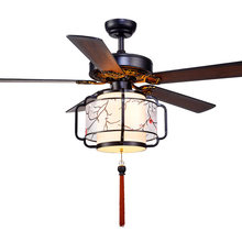 Diameter 42 52 inch fans Remote contntrol ceiling chandelier fan lights Chinese living room bedroom LED fan chandelier 220V 110V(China)
