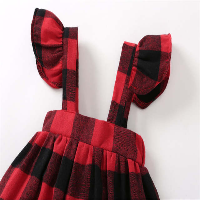 7e173376d COSPOT Baby Girls Dress Autumn Belt Ruffle Sleeved Red Plaid Christmas  Dresses for Girl Kids Baby