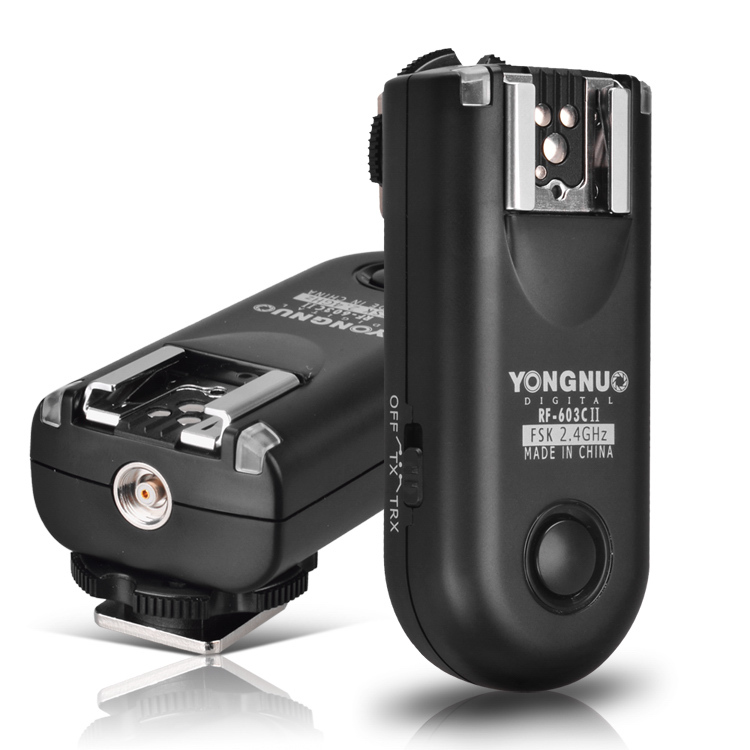 Yongnuo RF 603 II Radio Wireless Remote Flash Trigger for Canon 1000D 600D 650D 700D 60D