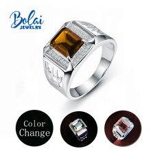 Bolaijewelry, Männer der Zultanite Farbwechsel Ring 925 sterling silber diaspore feine schmuck für Weiter mann beste geschenk