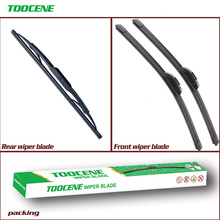 Front and Rear Wiper Blades For Ford Fiesta 6 2002 -2008 size 22+16+11 Windscreen Windshield Wipers Auto Car Styling ветровики ст ford fiesta hb5d 2002 2008