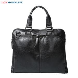 Office Tote Bags For Man Briefcases Casual Men's Large Leather Laptop Shoulder Bag Mens Business Handbag Messenger Bags 2019 New