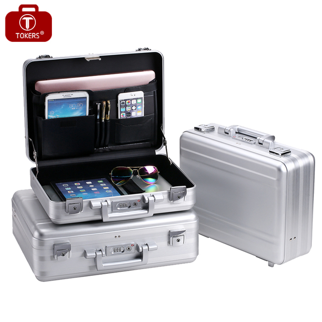 Ordinaire Pure Aluminum Briefcase Tools Laptop Men Women Lawyer Business Office File  Storage Box Precision Instrument Custom