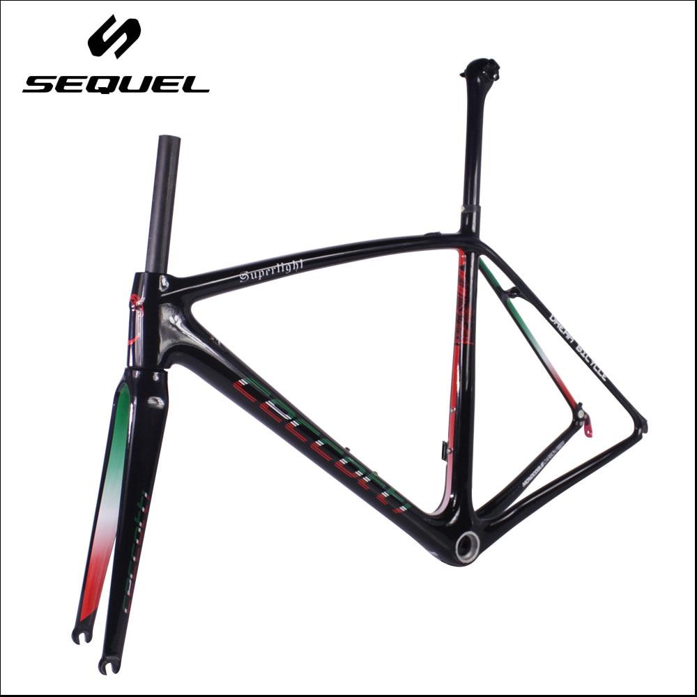 Ultra Light 765g Carbon Road Frame T1000 Toray Carbon Fiber Bike Frame PF30 BB30 Bottom Bracket  Crank