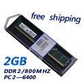 Низкая плотность настольный пк ddr2 2 ГБ PC2-800MHZ CL6 1.8 В ram memoria DDR2 модуль полная совместимость со ВСЕМИ плате