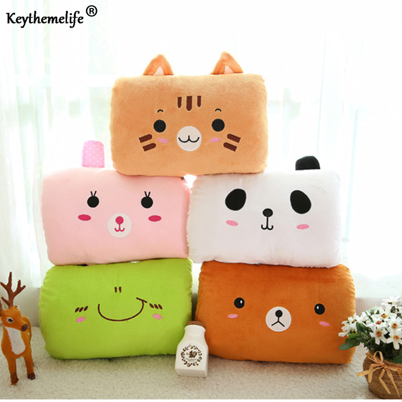Keythemelife Cartoon USB Electric Heater Plush Pillow Hand Po Hand Warmer Washable Explosion-proof Hand Cushion Hot sale C5 soft winter hand warmer plush style plush hand warmer plush pillow hand cushion toys for child christmas gift a6