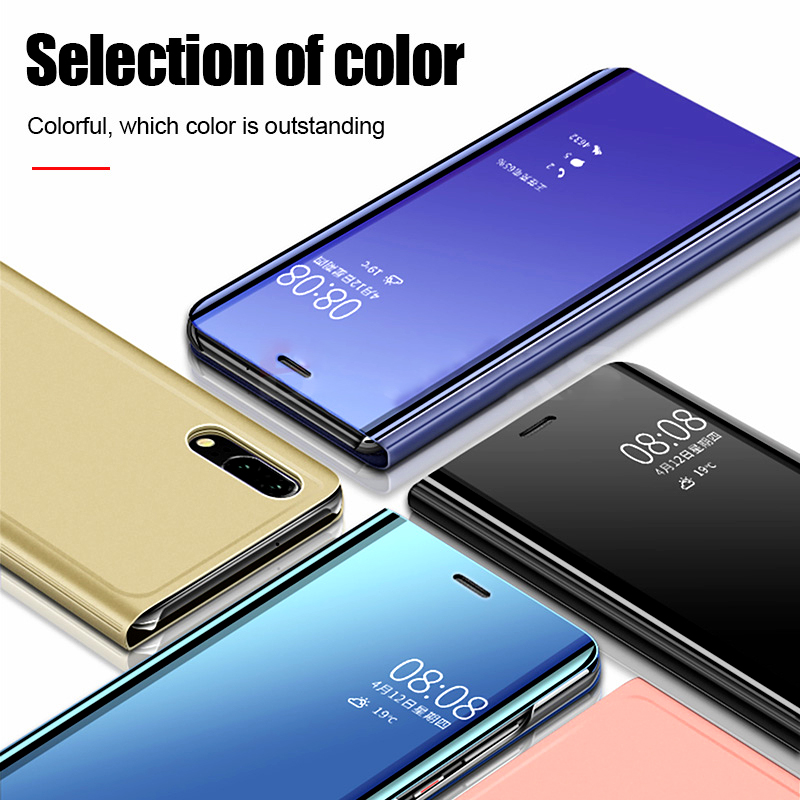pocophone f1 case mirror flip cases for xiaomi mi 9t 9 se 8 a2 lite a3 6 play max3 cover on redmi note 8 7 6 pro 7a 6a 4a go s2 in Flip Cases from Cellphones Telecommunications