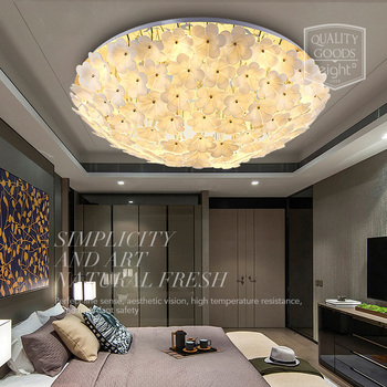 LED الحديثة غرفة المعيشة أضواء السقف حديقة مصابيح السقف المستديرة الشمال تركيبات غرفة نوم الأطفال مطعم السقف الإضاءة