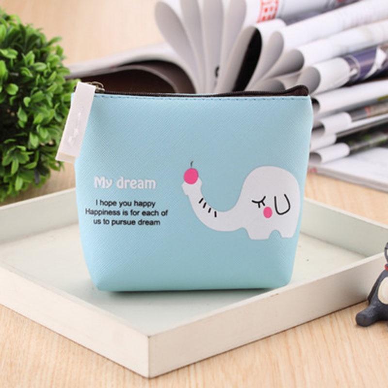 New Cute zebra elephant Girls Mini Coin Purses Brand Retro Simple Classic Coin Wallet Case With Zipper
