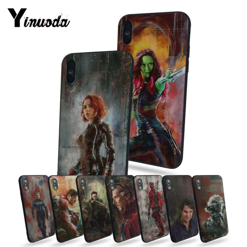 Yinuoda Oil Painting Style Marvel Deadpool Gamora Banner