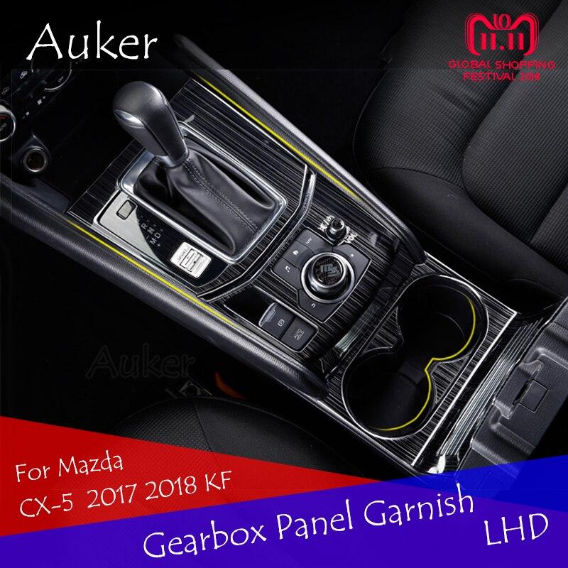 Para Mazda CX-5 CX5 2017 2018 KF LHD coche consola de Panel Trim marco cubierta de la etiqueta engomada tiras adorno decoración del coche estilo