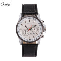 Chaxigo Men S Sport Wristwatches Quartz Calendar Display Leather Band Waterproof Cheap Male Watch Relogio Masculino