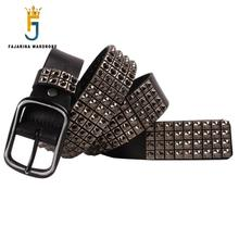 Unique Mens Womens High Quality 3.8cm Unisex Retro New Design Tip Nail Punk Rock Hip Hop Belts for Men Women FBFAJA0272
