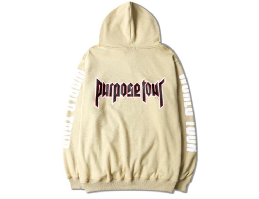 96dcd8cf 2018 Justin Bieber Vetements Hoodie Oversized Khaki Sweatshirts Purpose  Tour Mens Hip Hop Fleece Sweat Homme Women Hoodies-in Hoodies & Sweatshirts  from ...