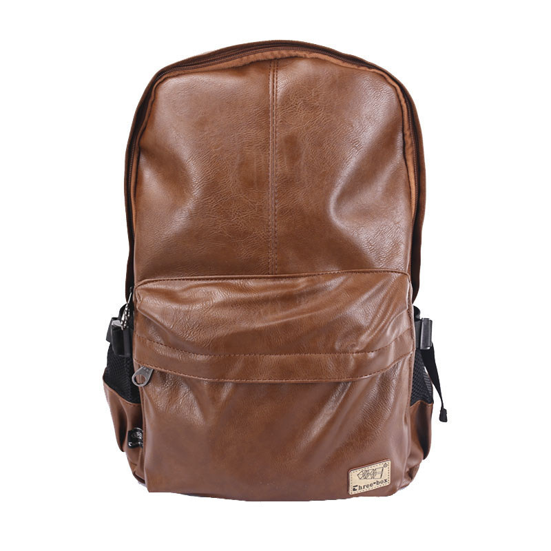 Brand Men Women PU Leather Vintage Backpack Fashion Leisure Teenagers Male School Day Rucksack Shoulder Laptop