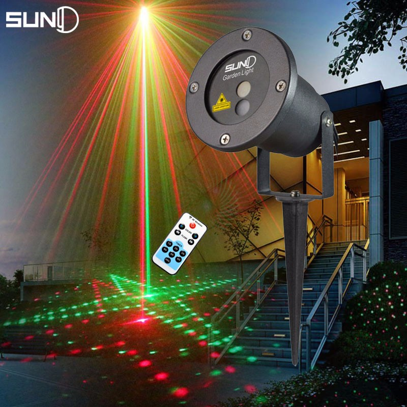 waterproof ip44 red green and blue laser led light with rf remote control for outdoor indoor garden decoration Remote Red Green 20 Patterns Laser Light Outdoor Waterproof Laser Garden Party Projector Landscape decorative Lights Show