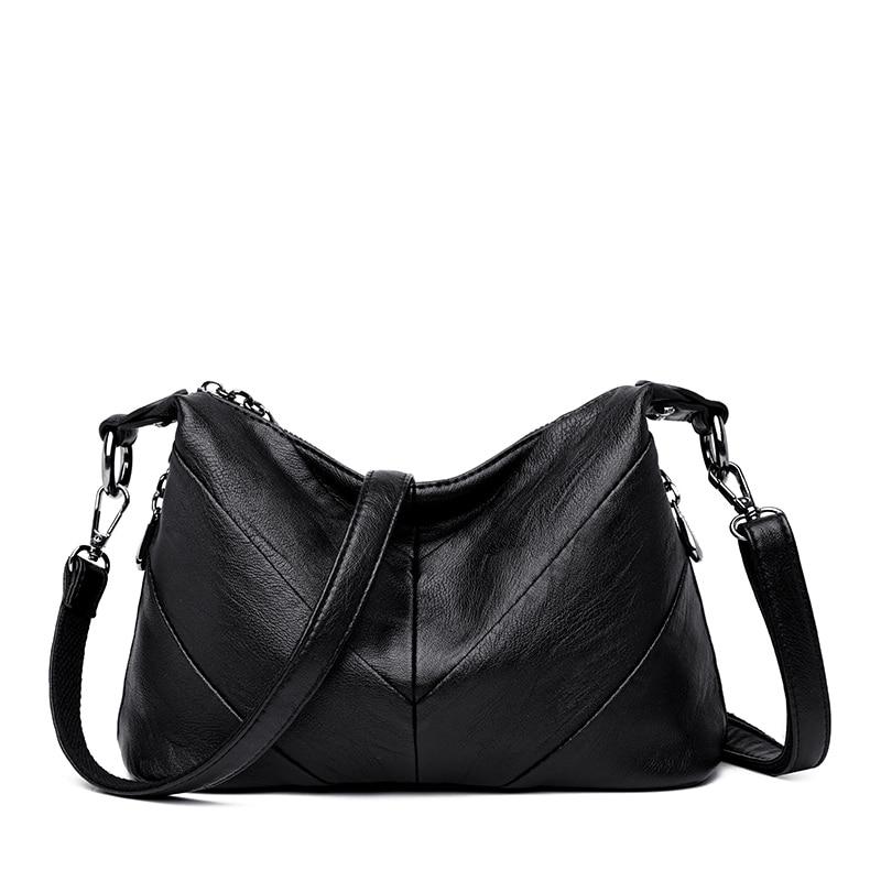 Black Bag female Women 39 s genuine leather bags handbags crossbody bags women shoulder bags Famous Designer bolsa feminina Tote in Shoulder Bags from Luggage amp Bags