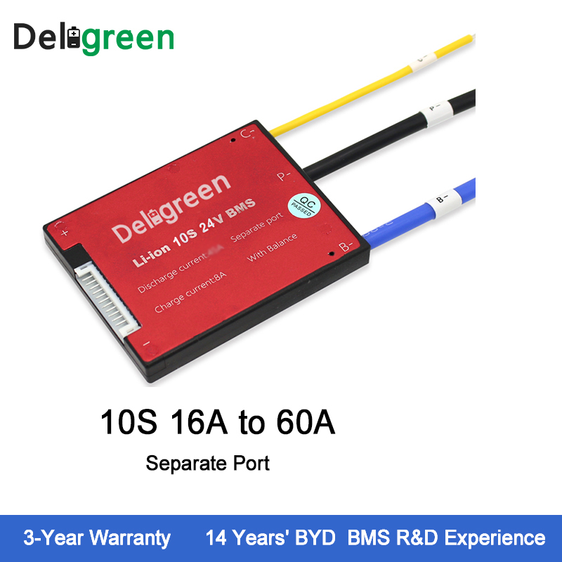 Deligreen 10S 16A25A35A45A60A 36V PCM/PCB/BMS for 3.7V lithium battery pack 18650 Lithion LiNCM Li-Polymer Scooter электрочайник russell hobbs legacy kettle black 21283 70