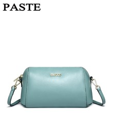 Women Genuine Leather Handbags Cowskin Bags Small/Blue/Pink/Beige 5p0367
