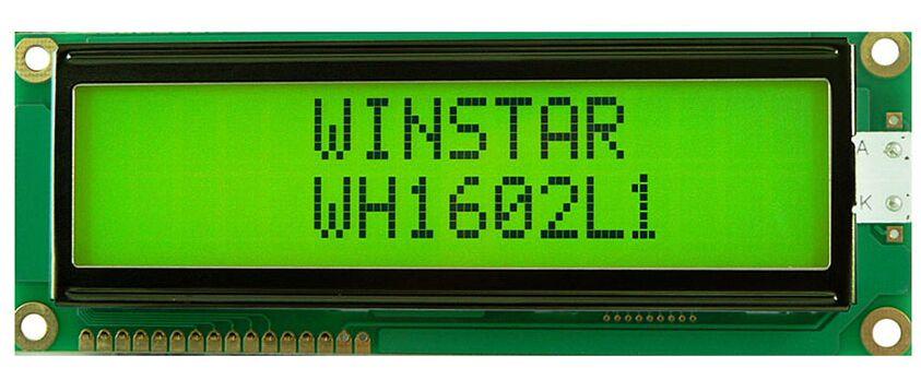 WH1602L1 WINSTAR 16*2 LCD 5 V Modulo che è costruito con ST7066 controller IC screen verde retroilluminazione nuovo e originale