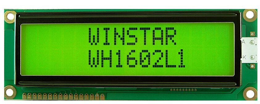 WH1602L1 WINSTAR 16*2 LCD 5V Module which is built in with ST7066 controller IC screen green backlight new and original favourite 1602 1f