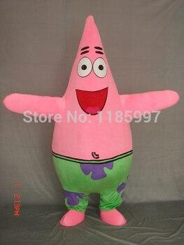HOT SALE BIG MOUTH Patrick Star BABY Halloween animal Mascot Costume Fancy Dress Animal mascot costume free shipping