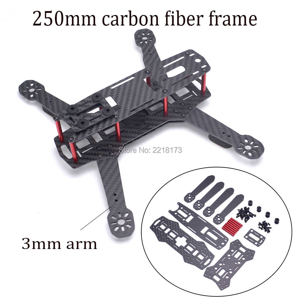 ZMR250 250 250mm glasvezel/Carbon Quadcopter Frame Kit met 3mm dikte arm voor QAV250 FPV Racing Drone