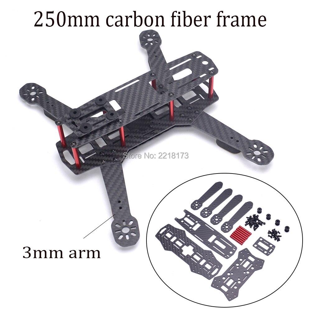 ZMR250 250 250mm fibra de vidrio/fibra de carbono quadcopter frame kit con 3mm espesor brazo para QAV250 FPV racing drone