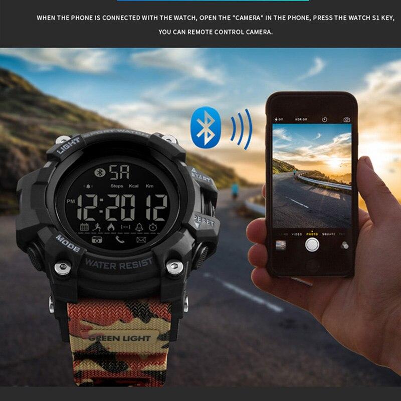 Energisch Smart Uhr Für Android Ios Schrittzähler App Anruf Erinnern Smart Armband Schlafen Monitor Fernbedienung Kamera Männer Smartwatch Skmei 2018 Digitale Uhren