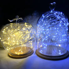 LED String 3*AA Battery Powered Decorative Silver String Christmas Lights 2M/5M/10 Warm White White for Christmas Wedding Party(China)