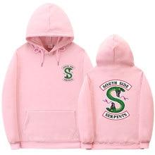 цена на Fashion BTS Riverdale hoodie South Side Serpents Hoodie Sweatshirt Hip hop Streetwear Autumn Spring Hoodies Men