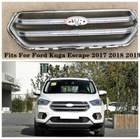 High Quality ABS Car Front Bumper Mesh Grille Trim Racing Grills Fits For Ford Kuga Escape 2017 2018 2019 BY EMS