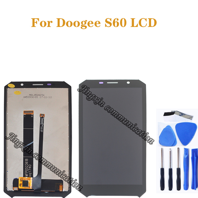 100% テスト 5.2 インチ doogee S60 液晶 + タッチスクリーンデジタイザコンポーネント交換修理部品 + ツール