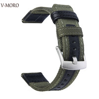 V Moro Newest Fashion Breathable Watch Straps For Samsung Gear S3 Strap Band Premium Woven Nylon