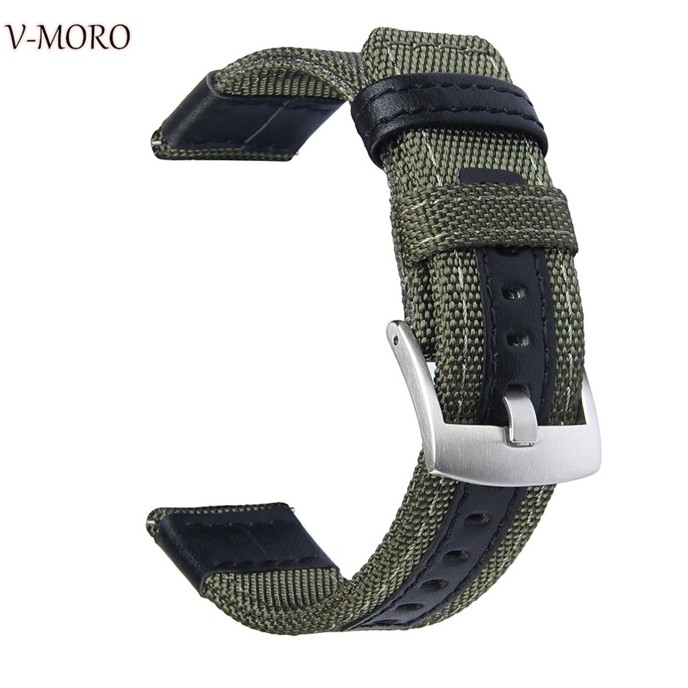 V-moro Newest Fashion Breathable Watch Straps For Samsung Gear S3 Strap Band Premium Woven Nylon For Gear S3 GearS3 Watch Bands смарт часы samsung gear s2 black