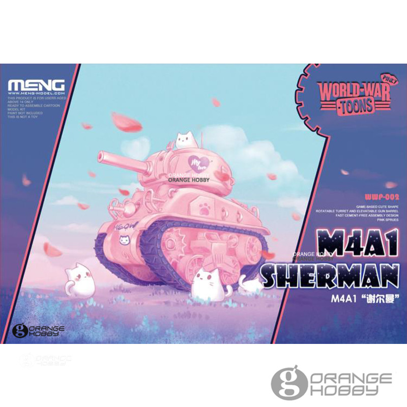 OHS Meng WWP002 Q Versin M4A1 Sherman Special Ver. Medium Tank Assembly Model Building Kits out of print italeri 1 35 m4a1 sherman 225