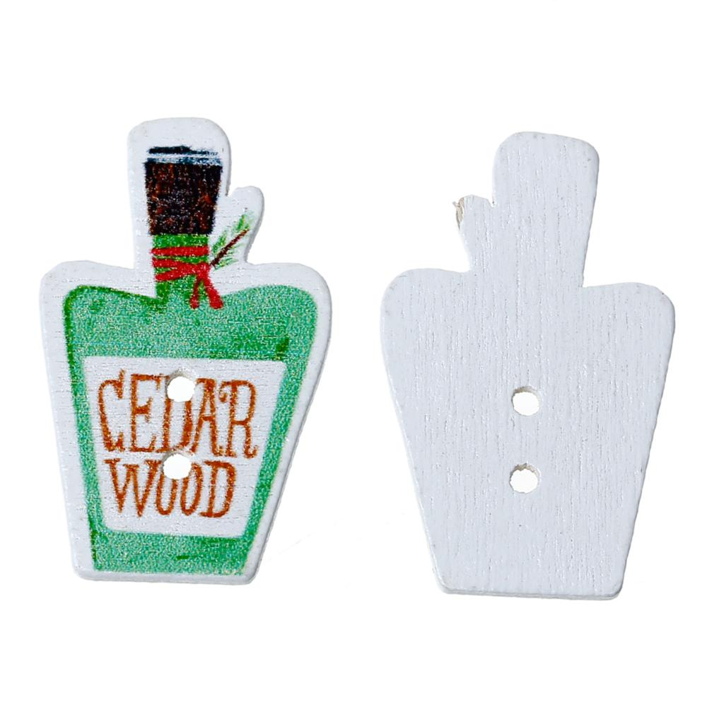 ᑎ‰Doreenbeads madera Costura botón scrapbooking botellas de perfume ...