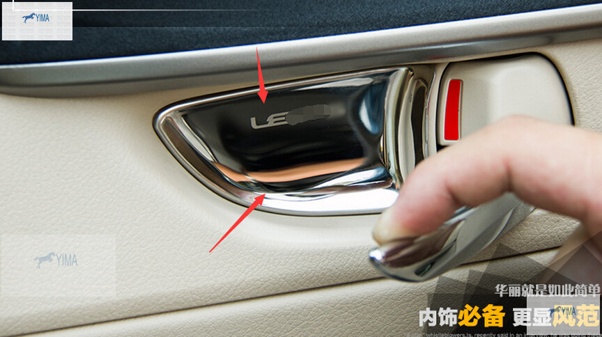 For Lexus NX ES RX CT IS 2013 2014 Stainless Steel Inner Car Door Handle  Doorknob Bowl Cover Trim 4 Pcs / Set In Interior Mouldings From Automobiles  ...