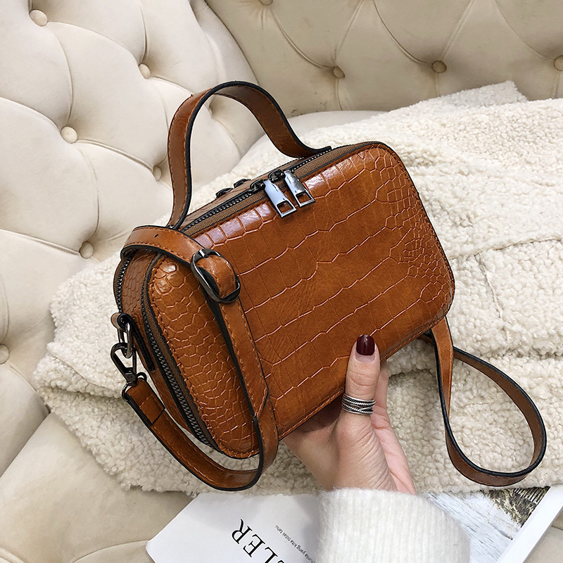 Crocodile Pattern Crossbody Bags For Women 2019 Small Chain Handbag Small Bag PU Leather Hand Bag Ladies Designer Shoulder Bags
