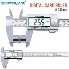 Xingweiang paquímetro digital, vernier digital de 6 polegadas, calibre eletrônico lcd de fibra de carbono, instrumentos de medição de altura, micrometro
